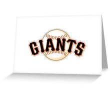GIANTS BASEBALL TEAM Greeting Card