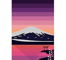 Sunset in Japan Photographic Print
