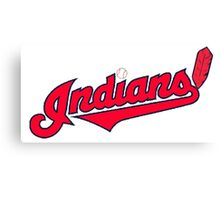 INDIANS BASEBALL TEAM Canvas Print