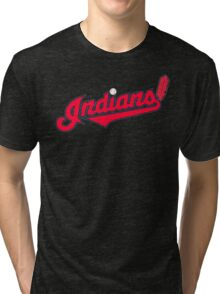 INDIANS BASEBALL TEAM Tri-blend T-Shirt