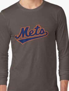 NY METS SIMPLE LOGO Long Sleeve T-Shirt