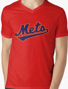 NY METS SIMPLE LOGO Mens V-Neck T-Shirt