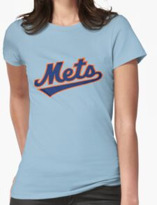 NY METS SIMPLE LOGO Womens Fitted T-Shirt