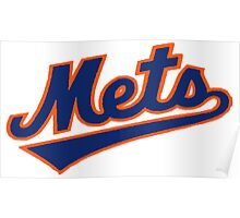 NY METS SIMPLE LOGO Poster