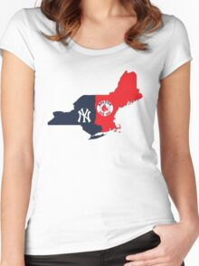 NY YANKEES X BOSTON RED SOX Women's Fitted Scoop T-Shirt