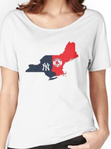 NY YANKEES X BOSTON RED SOX Women's Relaxed Fit T-Shirt