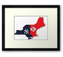 NY YANKEES X BOSTON RED SOX Framed Print