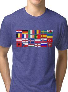 2016 Football country flags pattern Tri-blend T-Shirt