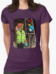 Mango Head Traffic Cop Womens Fitted T-Shirt