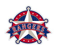 TEXAS RANGERS LOGO Photographic Print