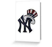 NEW YANKEES LOGO Greeting Card