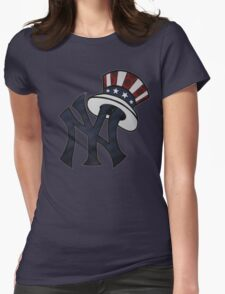 NEW YANKEES LOGO Womens Fitted T-Shirt