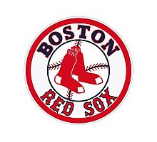 BOSTON RED SOX BASIC LOGO Photographic Print