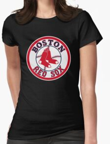 BOSTON RED SOX BASIC LOGO Womens Fitted T-Shirt