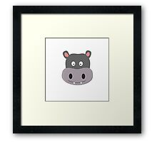 cute hippo Framed Print