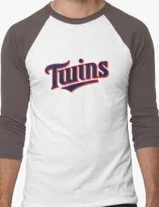 MINNESOTA TWINS LOGO Men's Baseball ¾ T-Shirt