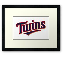 MINNESOTA TWINS LOGO Framed Print