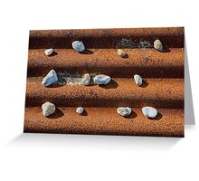 Pebbles on Rust Greeting Card