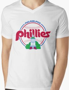PHILIES LOGO Mens V-Neck T-Shirt