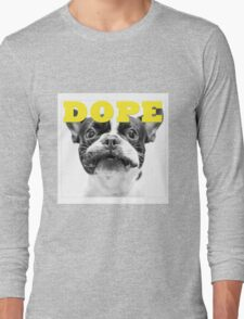 FRENCH BULLEDOG WHITE DOPE YELLOW Long Sleeve T-Shirt