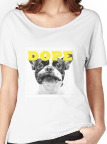 FRENCH BULLEDOG WHITE DOPE YELLOW Women's Relaxed Fit T-Shirt