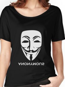 ANONYMOUS [white] Women's Relaxed Fit T-Shirt