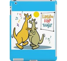 Cartoon of two kangaroos dancing together at disco iPad Case/Skin
