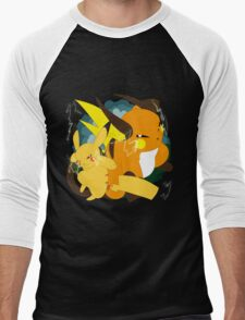 Raichu badge Men's Baseball ¾ T-Shirt