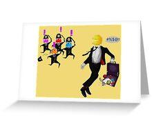 Running PAC-Man Greeting Card