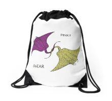 Pinky Swear Drawstring Bag