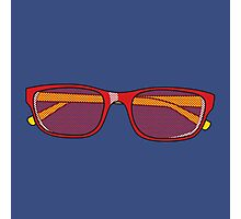 Pop Art Glasses Photographic Print