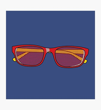 Pop Art Glasses Photographic Print