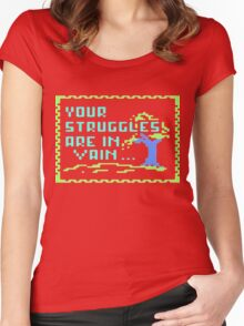 Your struggles are in vain Women's Fitted Scoop T-Shirt