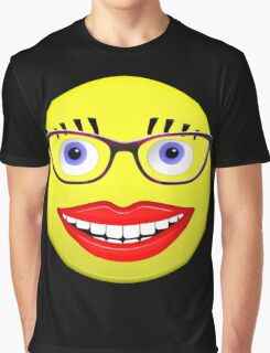 Smiley Female With Glasses and a Big Smile Graphic T-Shirt