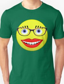Smiley Female With Glasses and a Big Smile Unisex T-Shirt