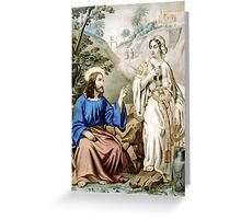 Christ and the woman of Samaria at Jacob's Well - 1856 - Currier & Ives Greeting Card