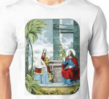 Christ at the well - 1846 - Currier & Ives Unisex T-Shirt