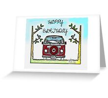 Birthday Love bus Greeting Card