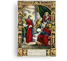 Christ before Pilate - 1847 - Currier & Ives Canvas Print