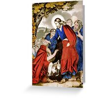 Christ restoreth the blind - 1846 - Currier & Ives Greeting Card