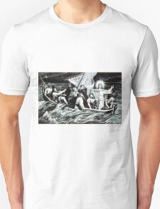 Christ stilling the tempest - 1871 - Currier & Ives Unisex T-Shirt