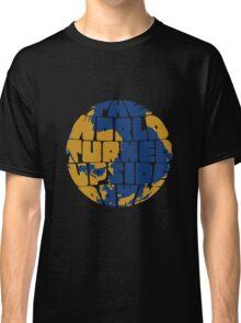 Hamilton - the world turned upside down - blue & gold Classic T-Shirt
