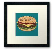 Bite me. Framed Print
