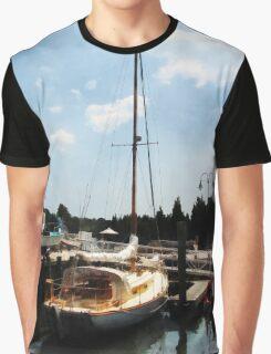 Docked Cabin Cruiser Graphic T-Shirt