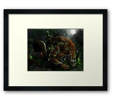 Werewolf evocation Framed Print