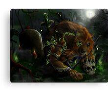 Werewolf evocation Canvas Print