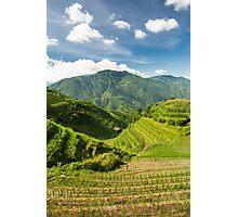 Landscape of rice terraces in china Photographic Print