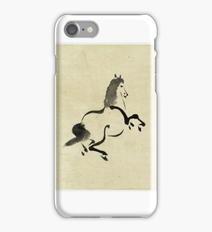 Horse - anon - 1870 - drawing iPhone Case/Skin