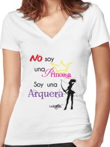 Soy una Arquera Women's Fitted V-Neck T-Shirt