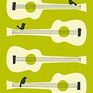BIRDS ON GUITAR STRINGS by JazzberryBlue